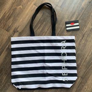 sephora tote bag & card case